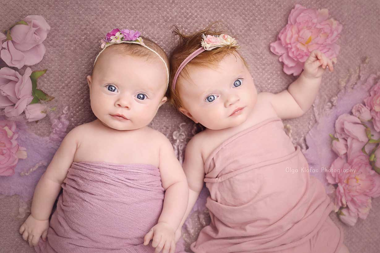 3-month-old twins Baby photo session by Olga Klofac Photography Mayo Sligo Roscommon Galway