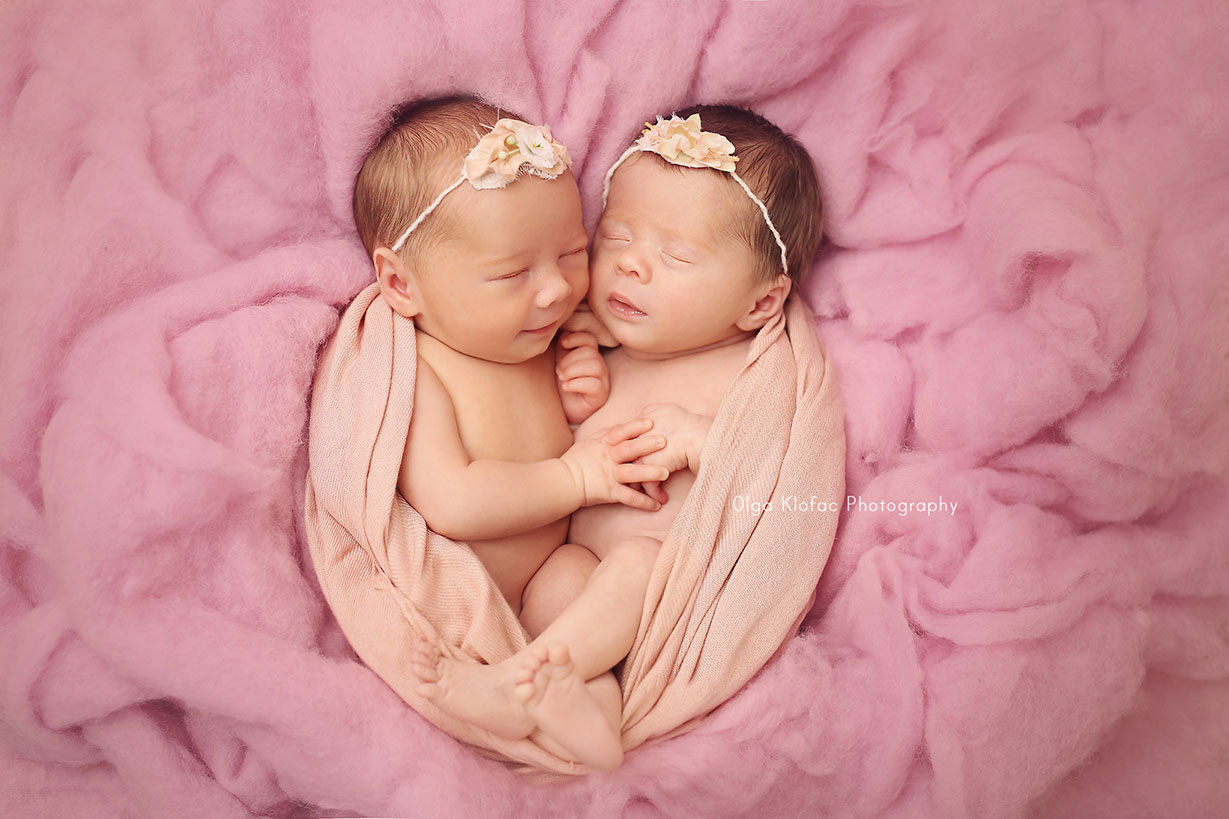 newborn twins photo session