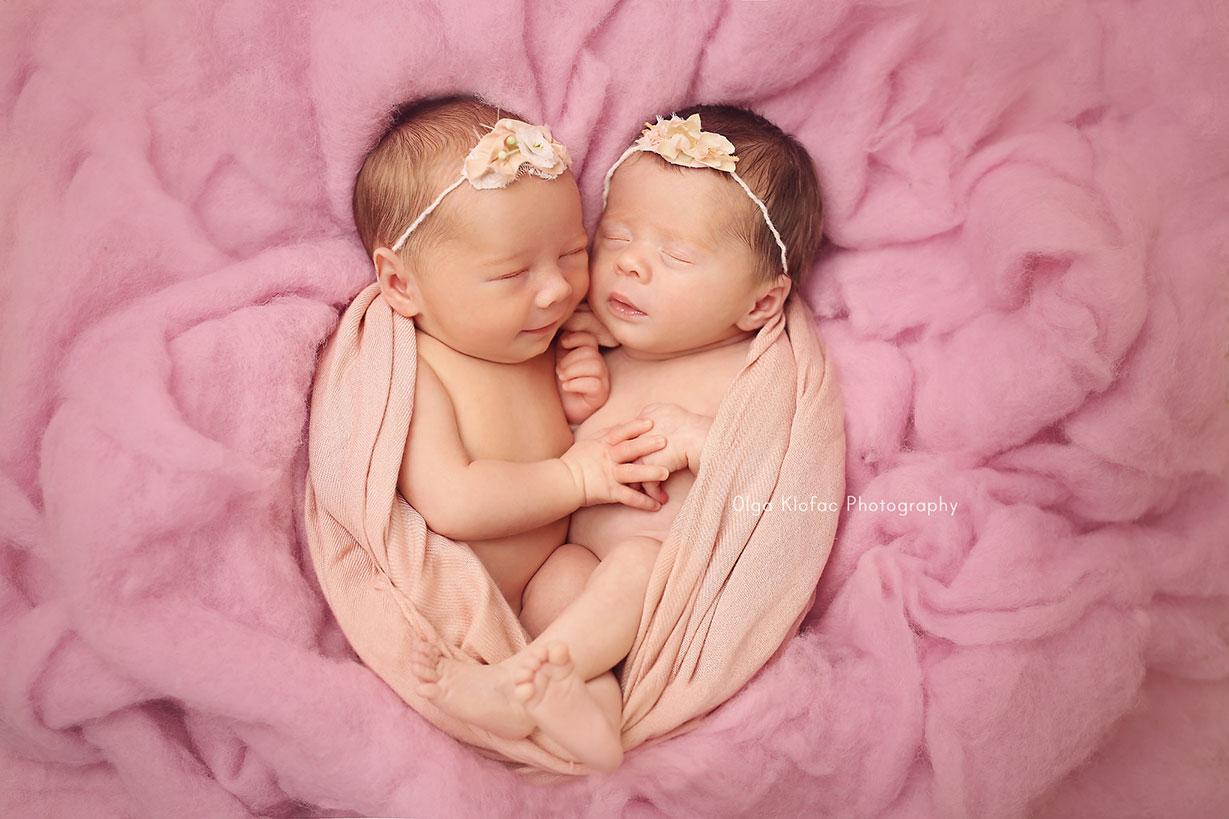 newborn twins photo session