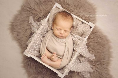 portrait of newborn baby boy taken by Olga Klofac Photography Mayo