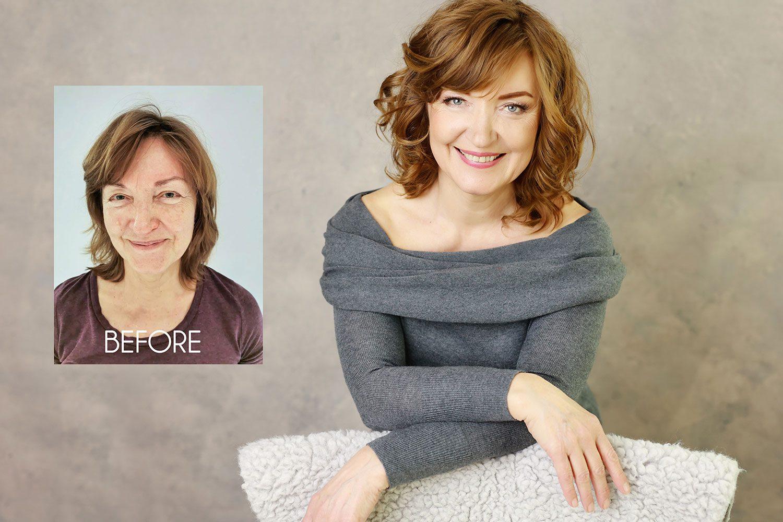 olga klofac photography, portrait photographer Mayo Sligo Roscommon Galway Leitrim, professional headshots, women portraits makeover before and after