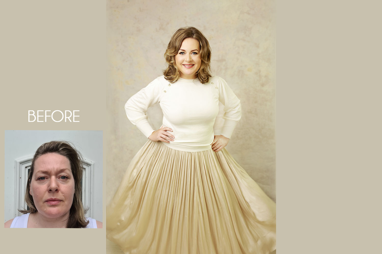 Olga Klofac Photography makeover, before and after photo, makeover Mayo Sligo Galway Roscommon Leitrim Athlone Longford